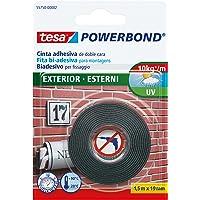 Tesa Powerbond dubbelzijdig plakband voor buiten, uv-bestendig, water- en temperatuurbestendig, tot 1 kg per 10 cm…