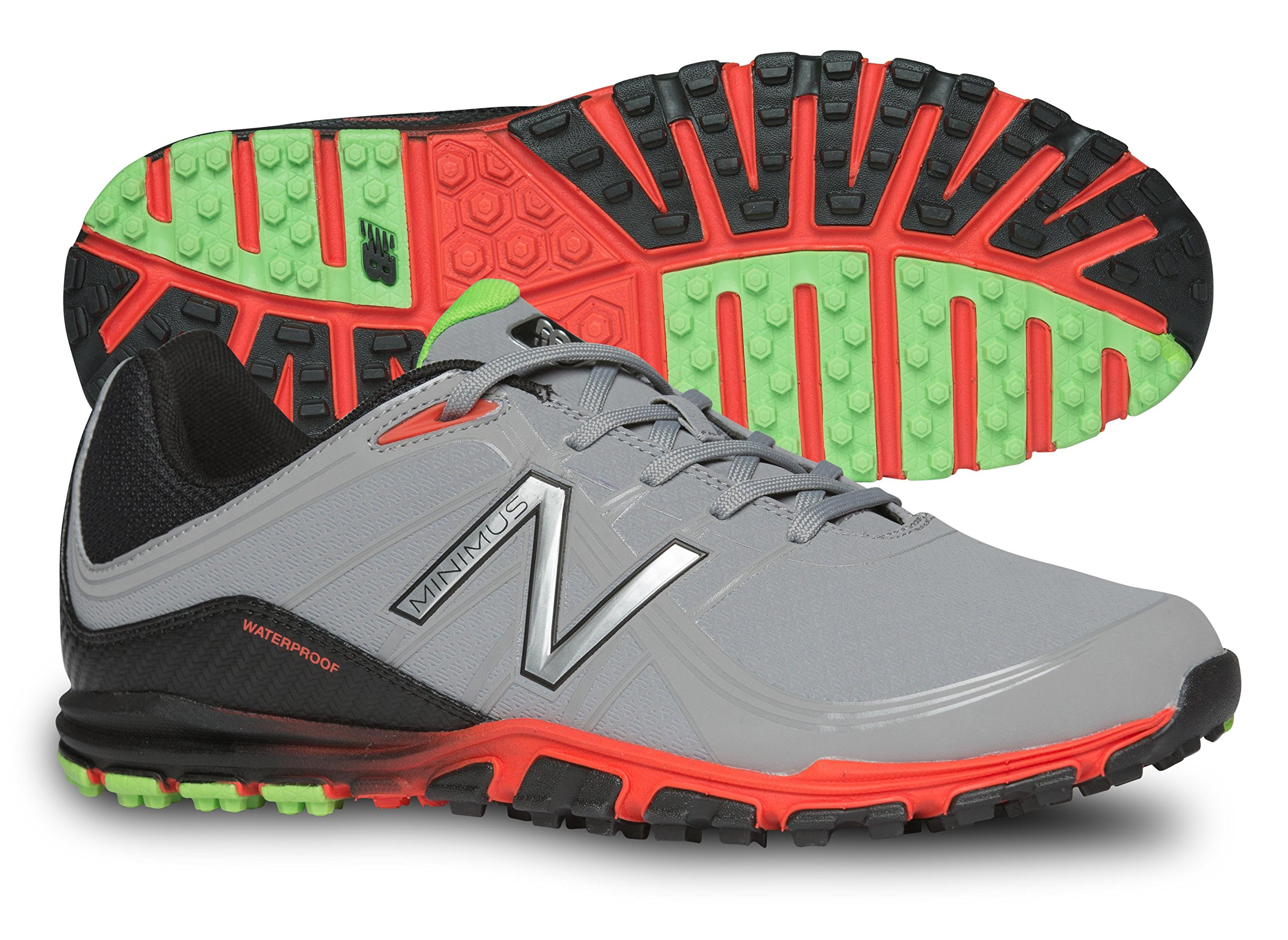 New Balance Men's Minimus Golf Shoe, Grey/Orange, 11 D US by New Balance