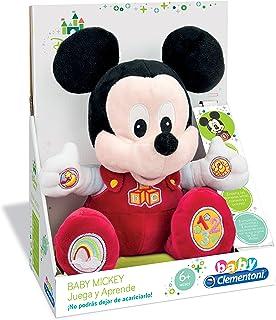 Clementoni Animales de Cine y Television Peluche Juega y aprende Mickey, Color roja (65191.7