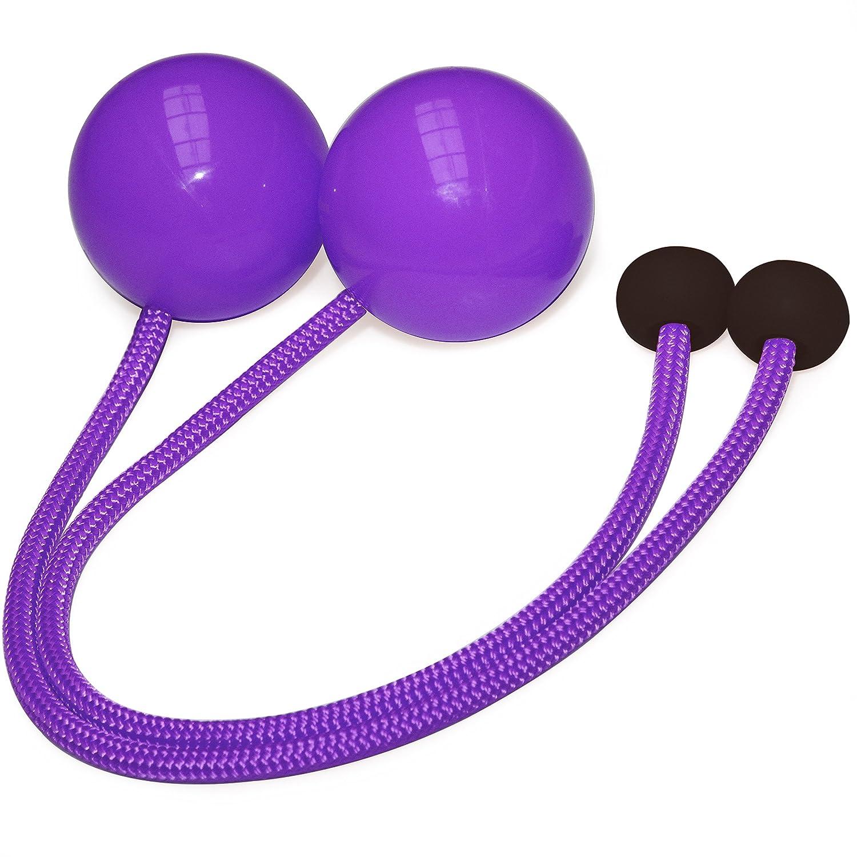 ペアの振り子Contact Poi with 3.15インチ( 80 mm ) Balls – px3 B01M8I9JHX パープル M - 22 inch (56cm)