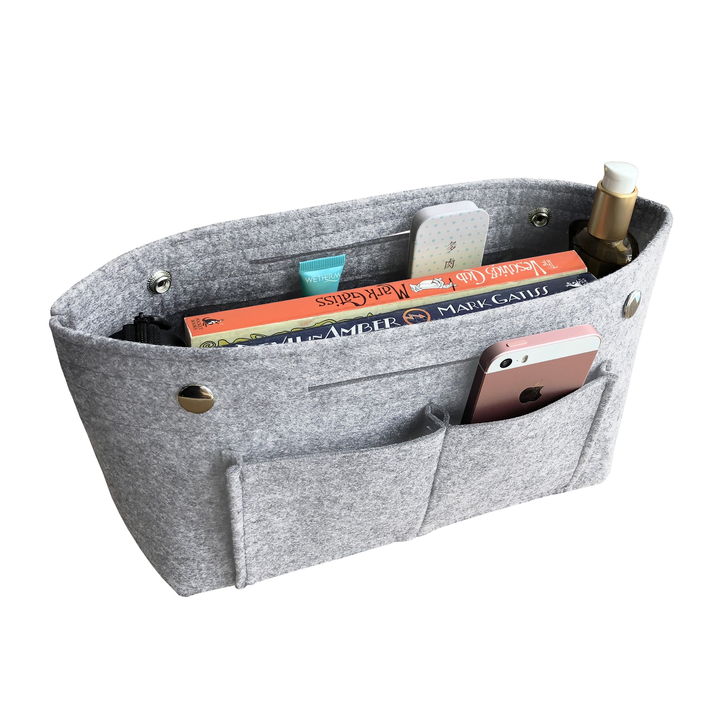 APSOONSELL Felt Tote Handbag Organizer Insert for Women, Light Grey - Large by APSOONSELL (Image #1)