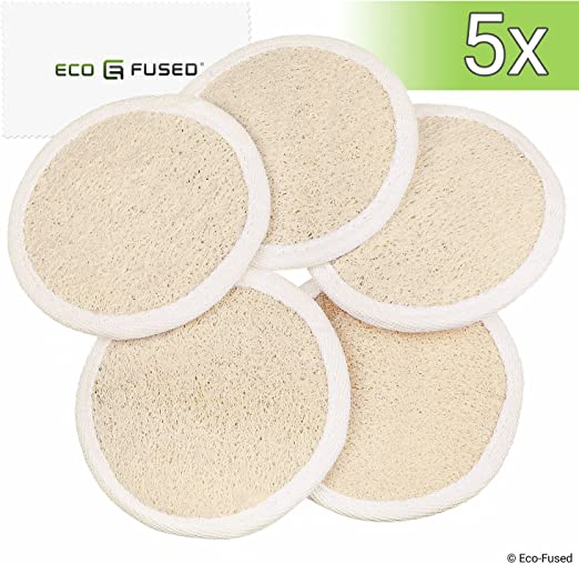 Amazon Com Loofah Pads Pack Of 5 Exfoliating Scrubbing