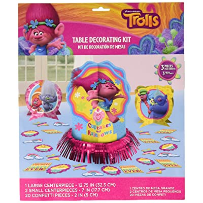 Amscan Trolls The Movie Table Decorating Kit Birthday Party Supplies, 23 pieces: Toys & Games