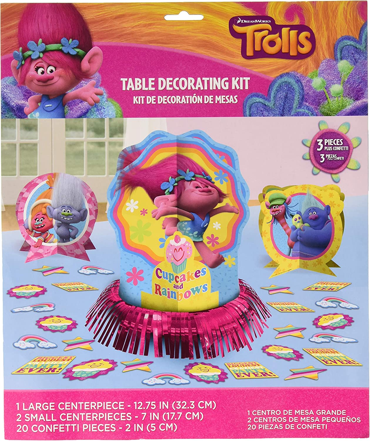 Amscan Trolls The Movie Table Decorating Kit Birthday Party Supplies, 23 pieces