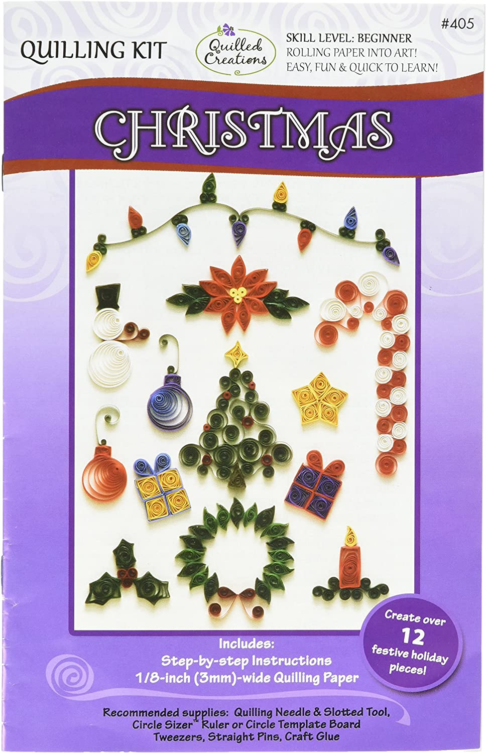 Paper Quilling Kit CHRISTMAS Holiday Quilled Creations 405