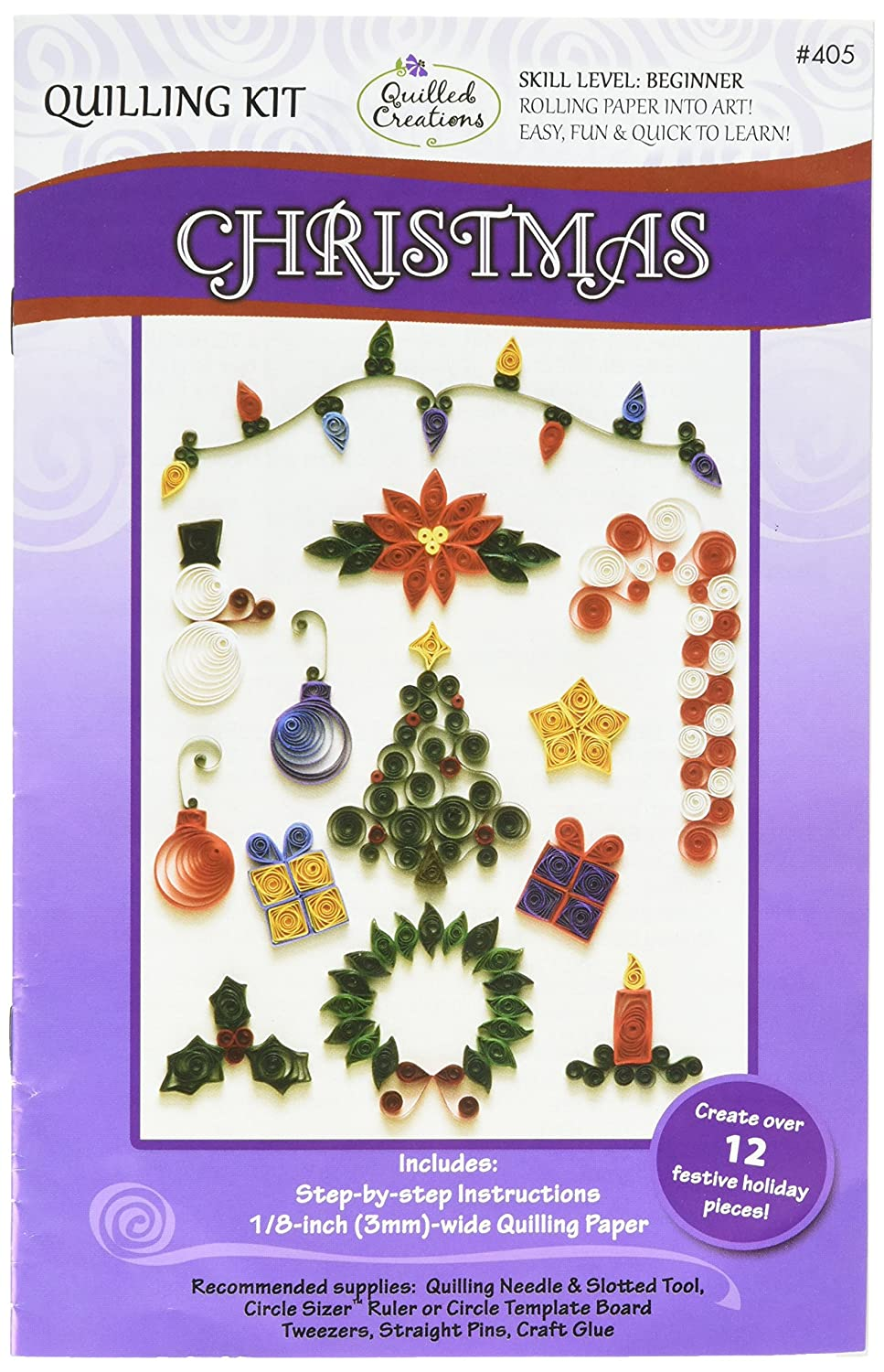 Quilled Creations Q40-5 Quilling Strips Christmas Kit