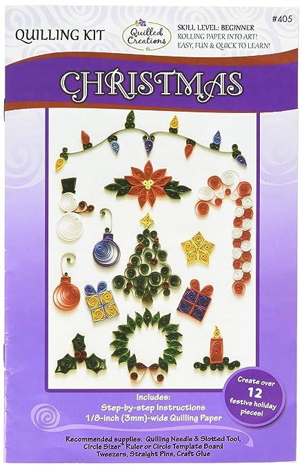 Decorazioni Natalizie Quilling.Quilled Creations Decorazione Di Natale Amazon It Casa E Cucina