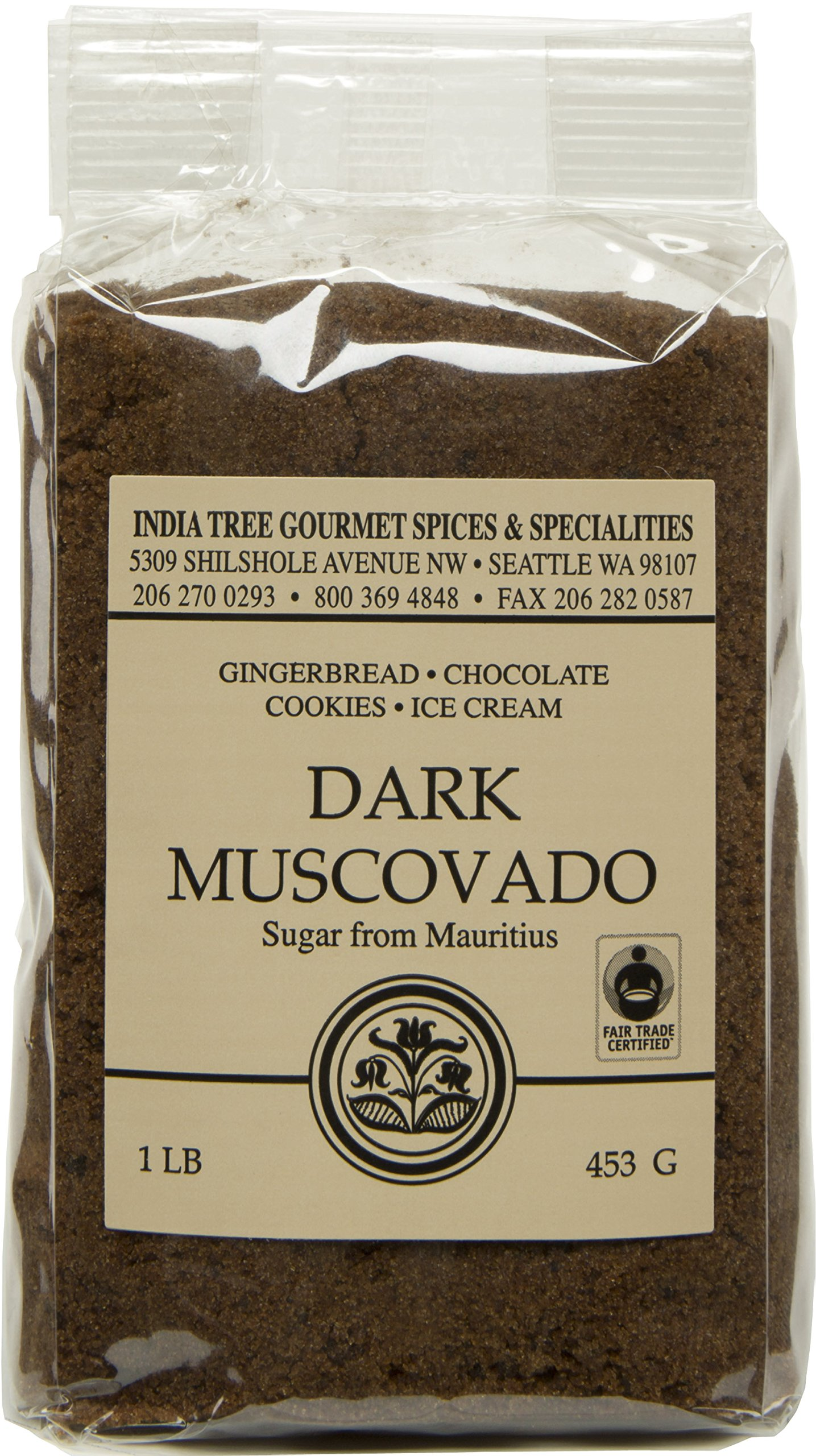 India Tree Dark Muscovado Sugar, 1 Pound (Pack of 6) by India Tree
