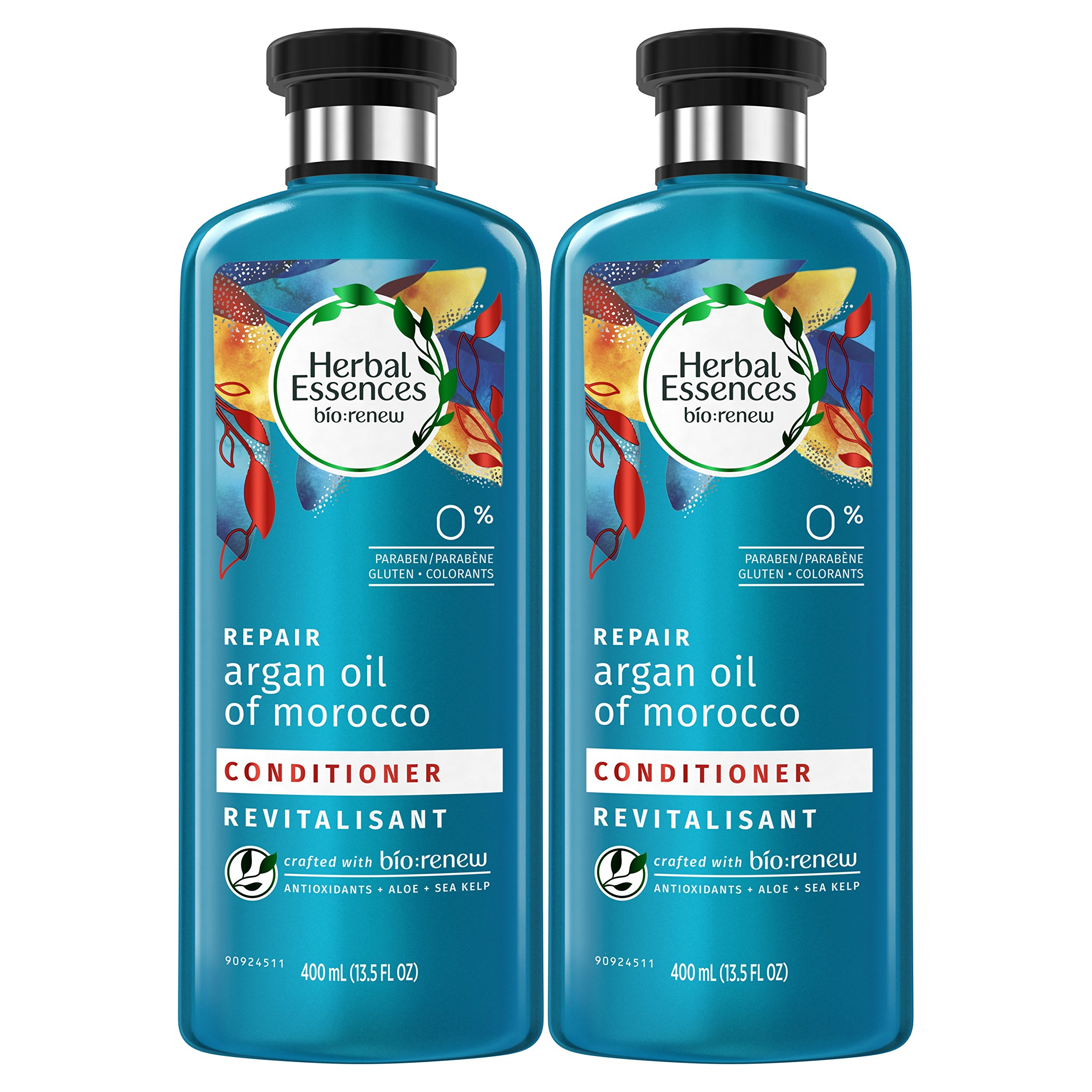 Herbal Essences Argan Oil Conditioner, 13.5 Fluid Ounces Paraben Free (Pack of 2) - Biorenew, Paraben Free