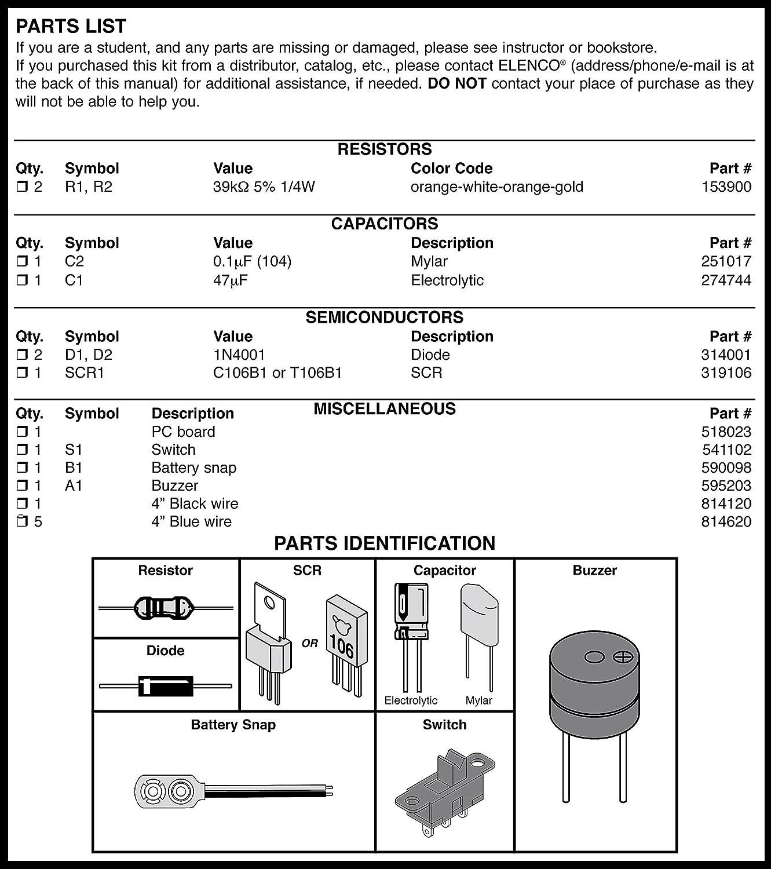 Elenco Burglar Alarm Soldering Kit With Iron And Solder Two Ic Am Radio Training Course Model Am780k Electronic Toys Games