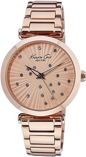 Kenneth Cole KC0019 - Reloj de Pulsera Hombre, Acero Inoxidable, Color Oro Rosa: Amazon.es: Relojes