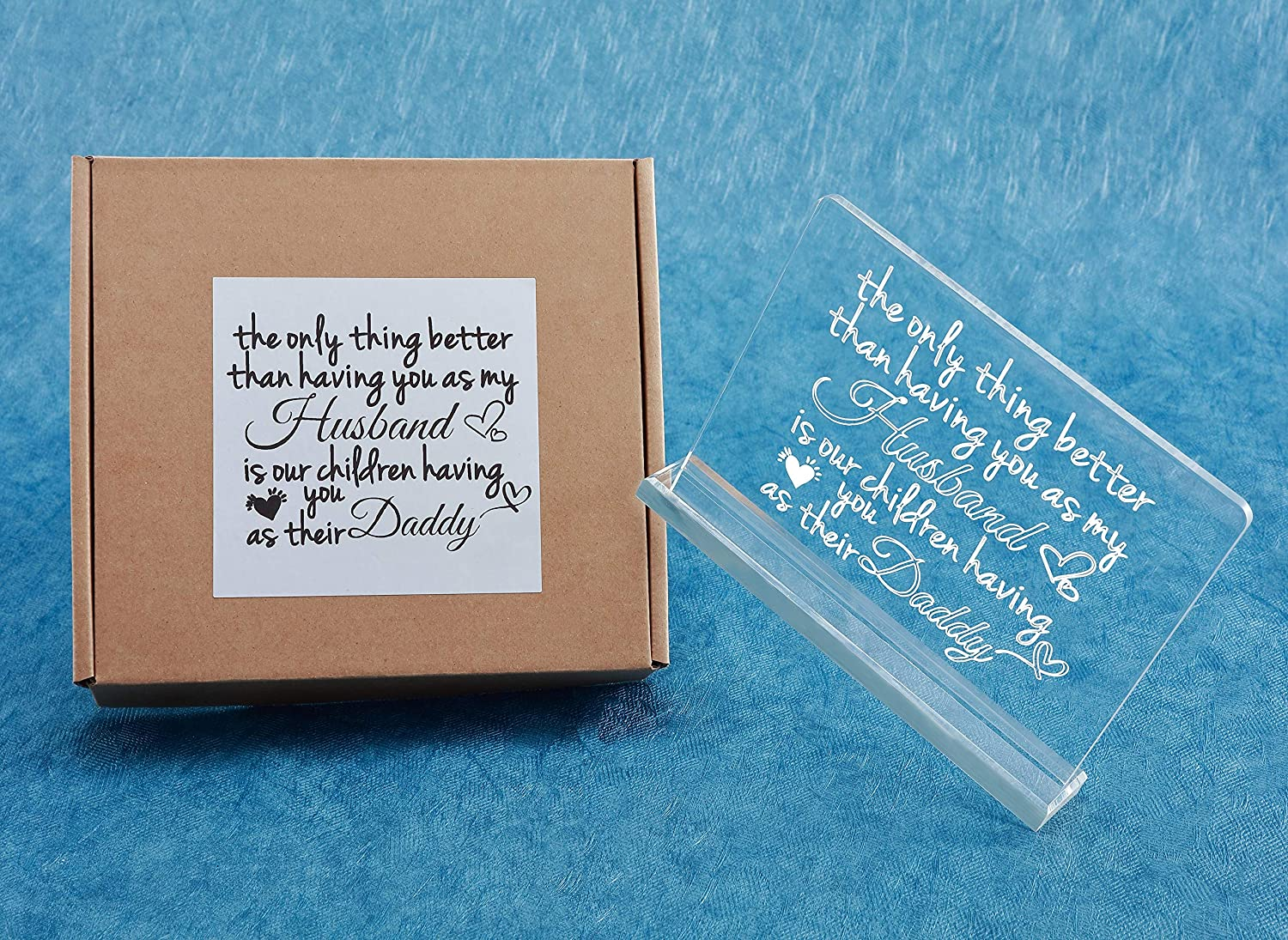 Unique Birthday Gifts for Dad Meeteem for Dad Thank You for Helping Me Build My Life Engraved Acrylic Table Desk Decoration with Love Quote Professional Gifts for Dad Gifts from Daughter Son
