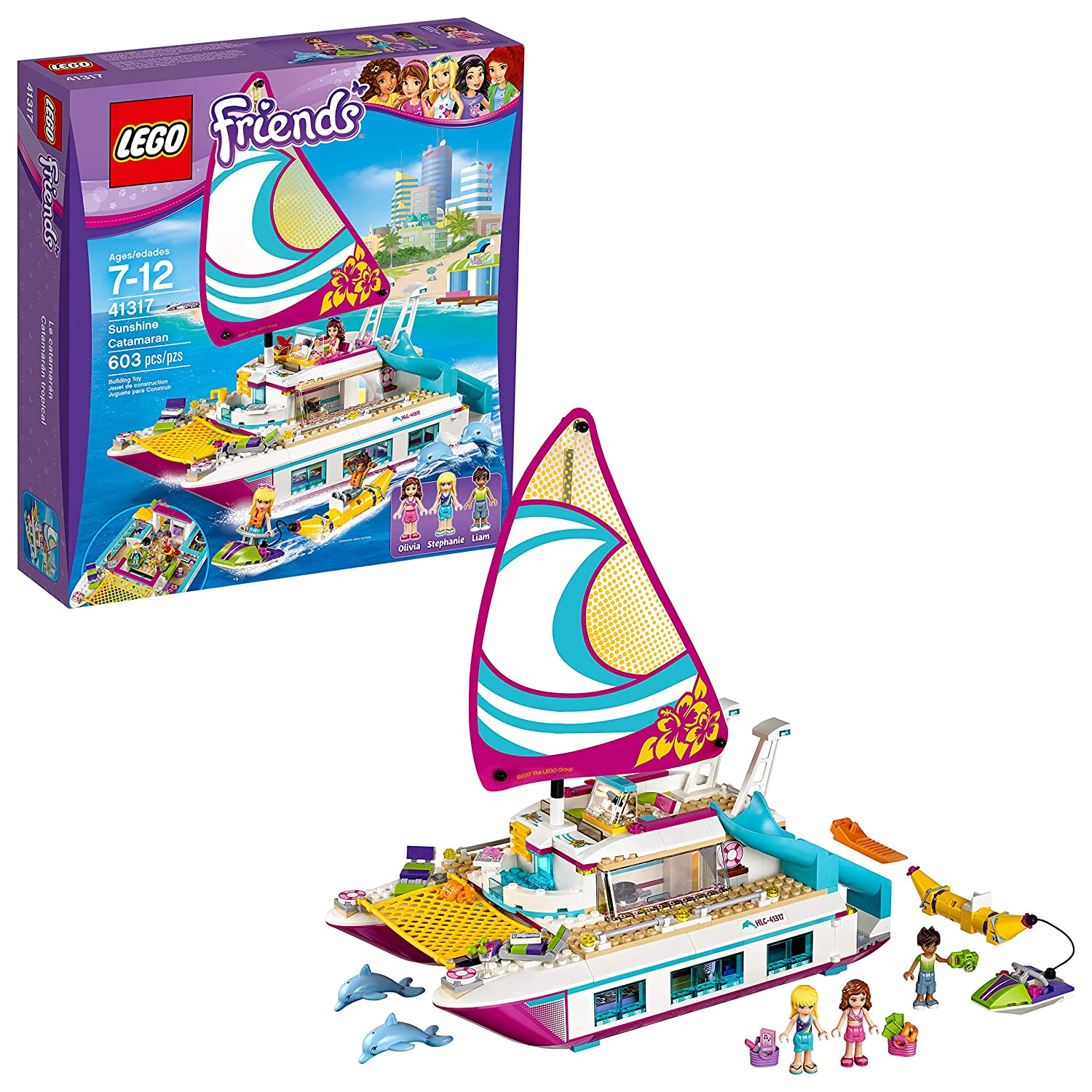 LEGO Friends Sunshine Catamaran Building Kit, 603 Piece 41317