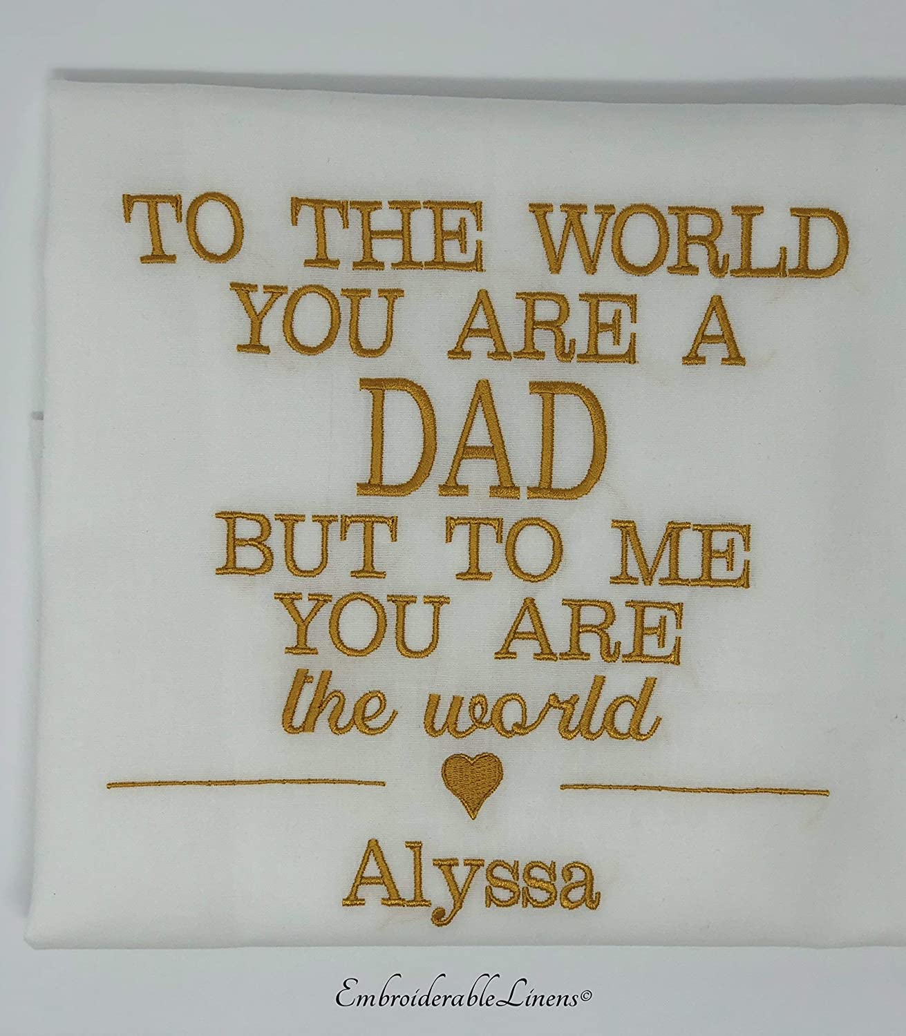 Customized Pillow Case with words embroidered, your choice of color, font, and thread color.