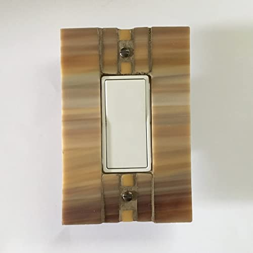 Amazoncom Decorative Switch Plate Covers Gold Stained Glass
