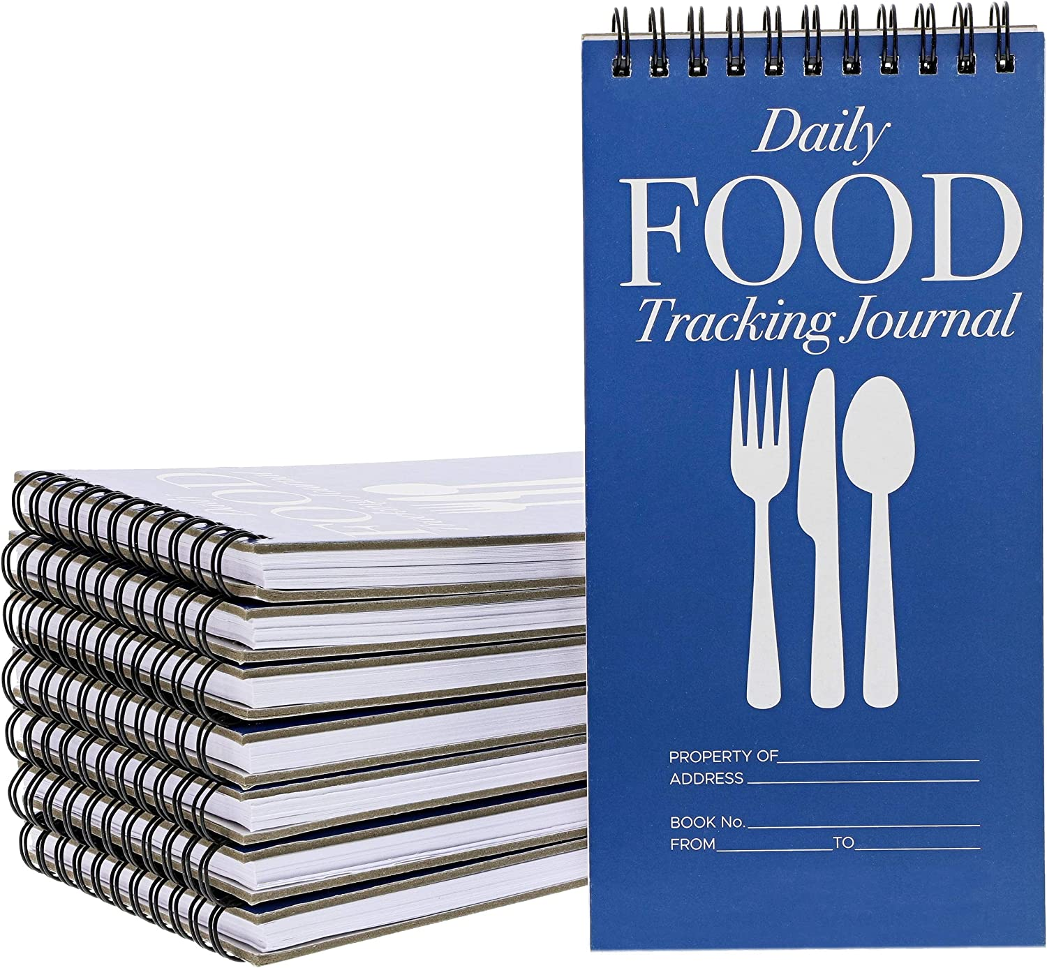 12-Pack Daily Food Intake Diary Tracker Journal Notebook, 8 x 4 Inches