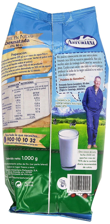 Central Lechera Asturiana - Leche en polvo - Desnatada - 1 kg: Amazon.es: Alimentación y bebidas