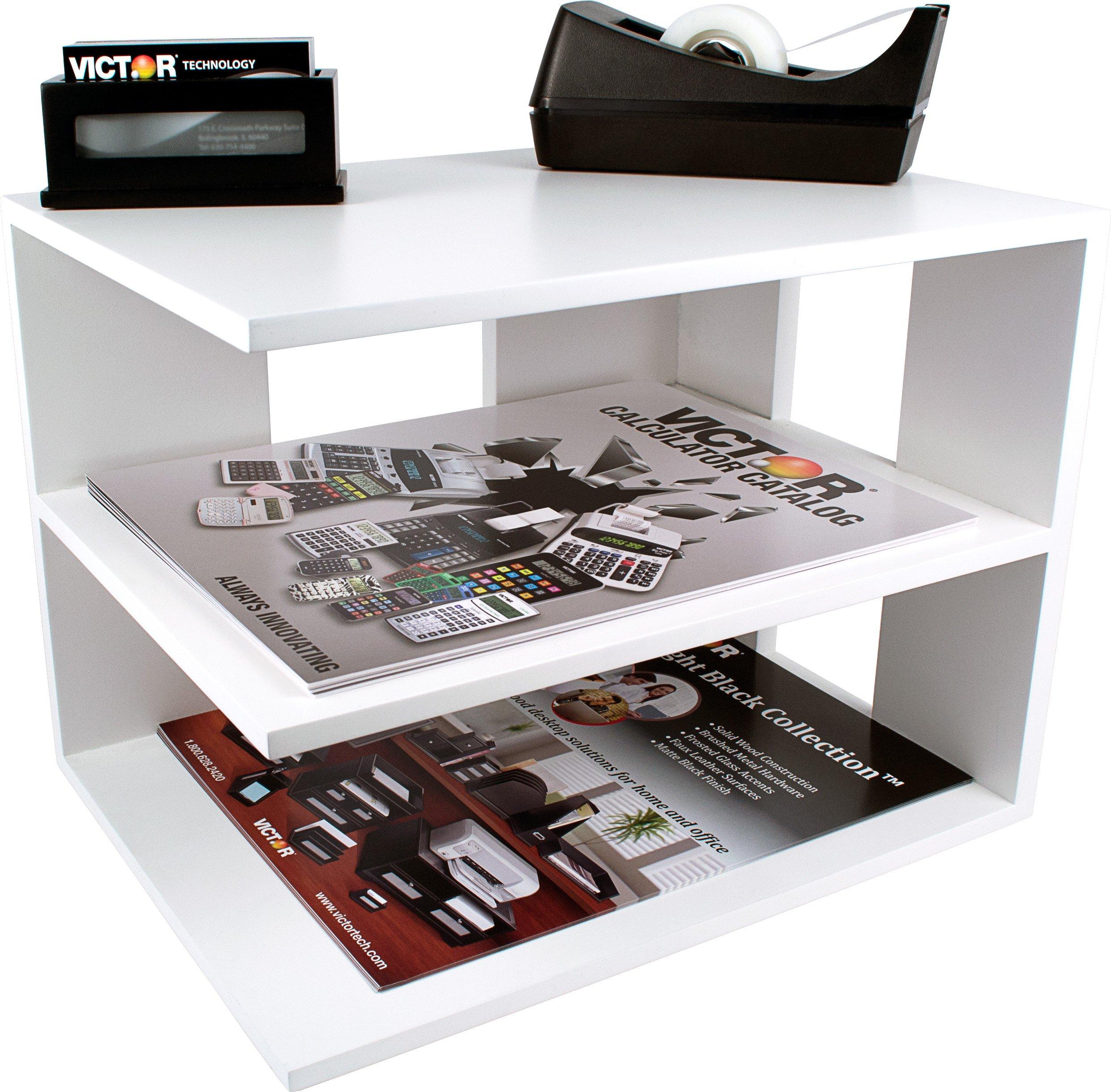 Victor Wood Corner Shelf, W1120 (Pure White)