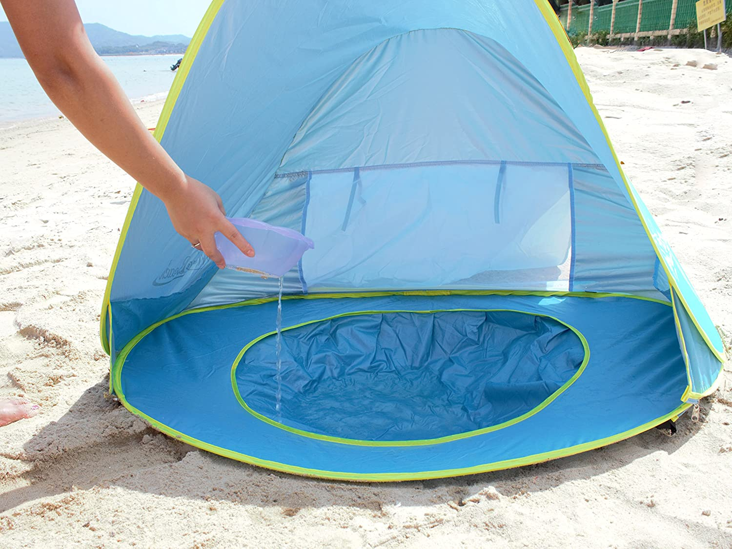 MonoBeach Baby Beach Tent Pop Up Portable Shade Pool UV Protection Sun Shelter For Infant Amazonca Sports Outdoors