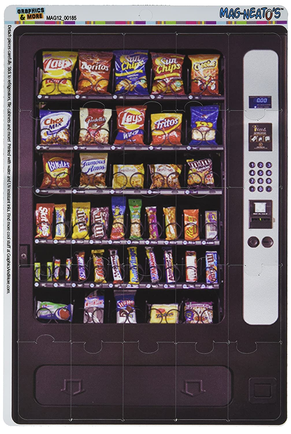 Graphics and More Snack Vending Machine Mag-Neato