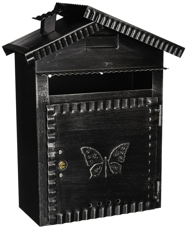 Vigor Blinky 27340-20 Boîte aux lettres en fer forgé patiné en forme de maisonnette 22 x 12 x 35cm Viglietta Group