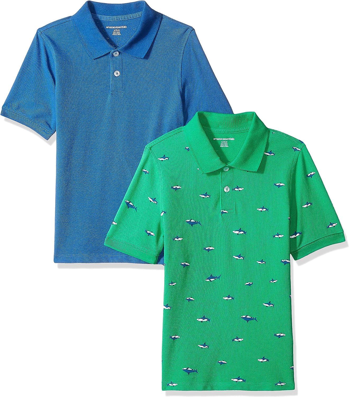 Amazon Essentials Boys Uniform Short-Sleeve Pique Polo Shirts