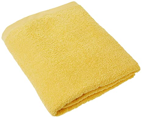 Lasa Home – Toalla de baño, algodón, Amarillo, 100 x 150 x 1