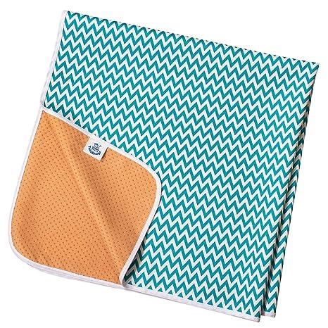 Aqua Chevron Non Slip Splash Mat by TotsAhoy!/® Large Under Highchair Baby Weaning Floor Protector