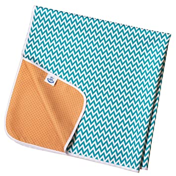 aeec5ac58 Large Under Highchair Baby Weaning Floor Protector (Blue Chevron):  Amazon.co.uk: Baby