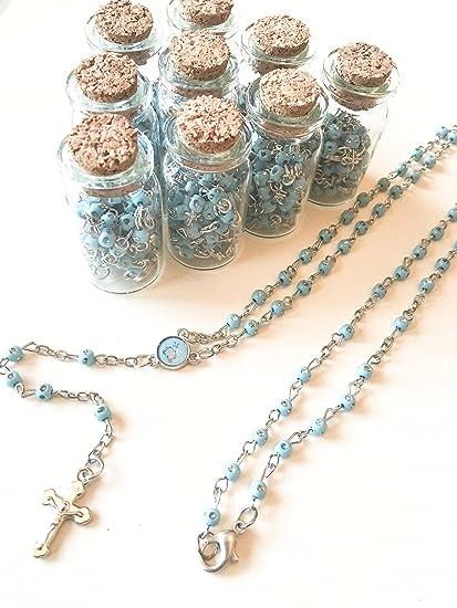 Amazon.com: 12 x nueva botella de rosario primera Comunión ...