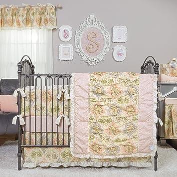 Trend Lab Waverly Rosewater Glam 3 Piece Crib Bedding Set