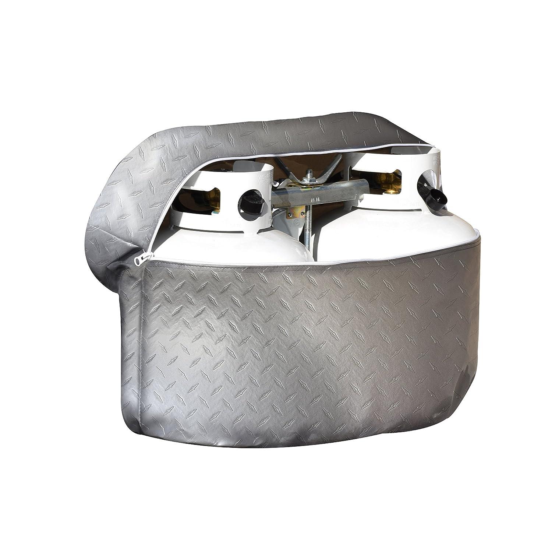 ADCO 2712 Silver Double 20 Diamond Plated Steel Vinyl Propane Tank Cover