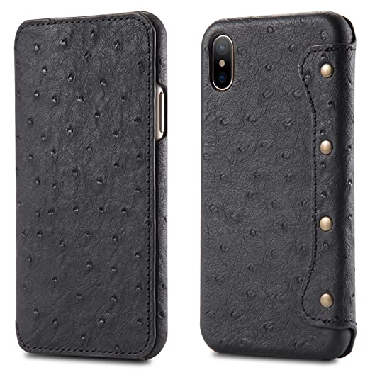 timeless design 096af 48a54 Amazon.com: Flyeri iPhone X case,iPhone Wallet case Simple Import ...
