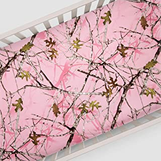 product image for Glenna Jean Camo Baby Fitted Sheet (Camo), Pink, Crib