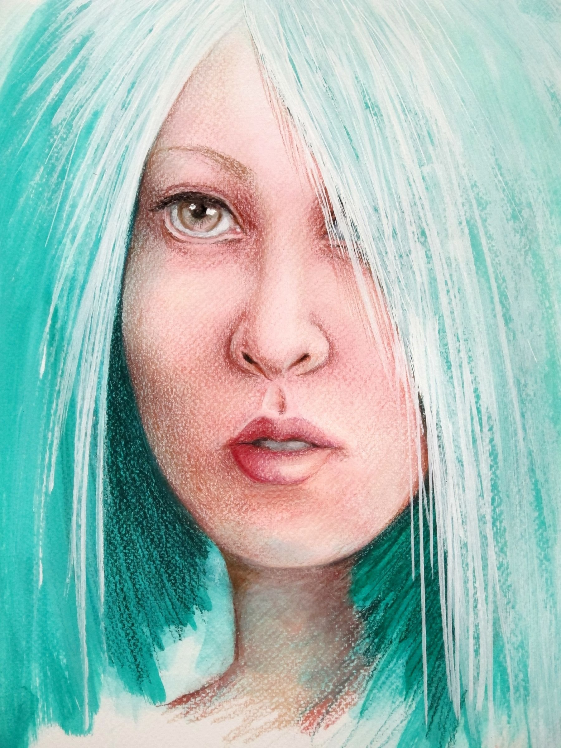 The other girl with turquoise hair