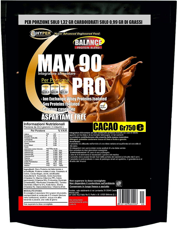 Batidos de proteína adelgazante | Sustitutivo de la comida | Cacao Gr 750 sabor | Dieta alta en proteínas x Pierda peso | perder peso | Sin aspartame ...