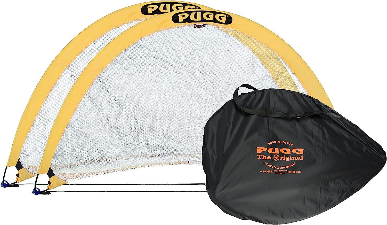 PUGG 6 Foot Pop Up Soccer Goal - Portable Training Futsal Football Net - The Original Pickup Game Goal (2 Goals and Bag) : Soccer Goals : Sports & Outdoors