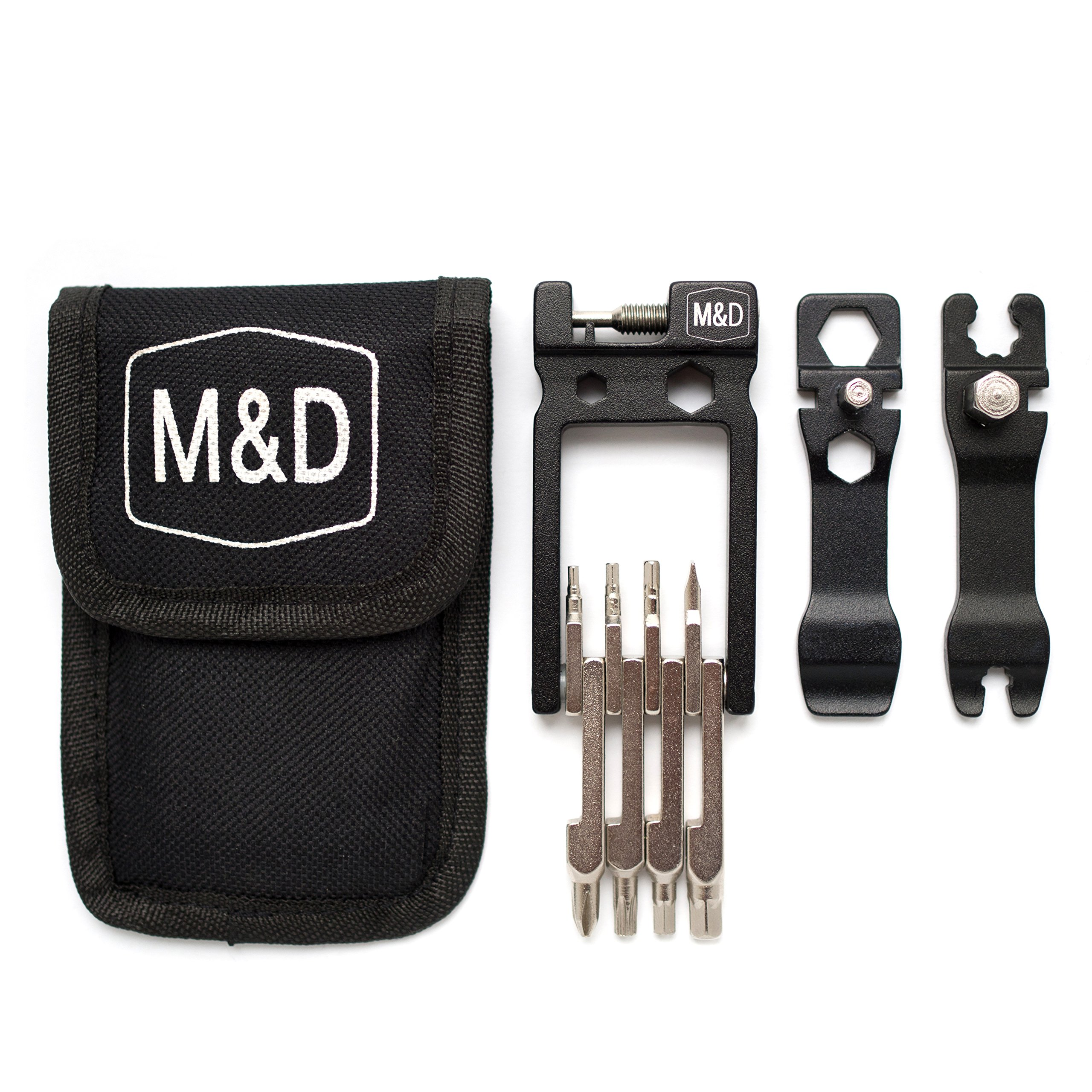 Bike Multitool MadWares 28 in 1 Bicycle Multi Tool Repair Kit with Wrench Set by M&D Wares (Image #8)