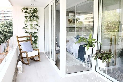 minigarden 1 Juego Vertical para 9 Plantas, Jardín Vertical Modular y Extensible, Colocar en el Suelo o Colgar en la Pared, Mecanismo de Drenaje Innovador, Largo Ciclo de Vida (Verde): Amazon.es: Jardín