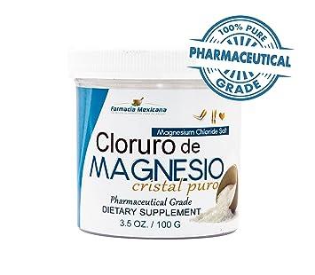 Cloruro de Magnesio Sal Puro / Magnesium Chloride Pharmaceutical Grade 100% Pure 100 grams