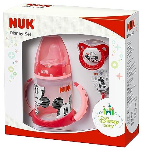 NUK 10225123 Disney Mickey Set, edición, 3 productos en paquete de regalo, 6 – 18 meses, color negro rojo