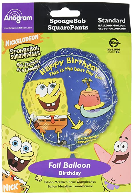 Amazon.com: Anagram Internacional Spongebob Squarepants ...