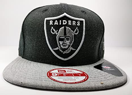 f4b7b2e9c Image Unavailable. Image not available for. Color  Oakland Raiders New Era  Speed Up Snapback Cap Hat Grey Black