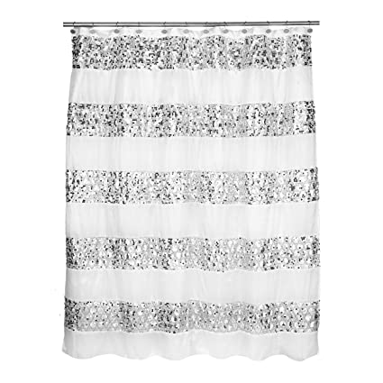 Amazon Popular Bath Shower Curtain Sinatra Collection White