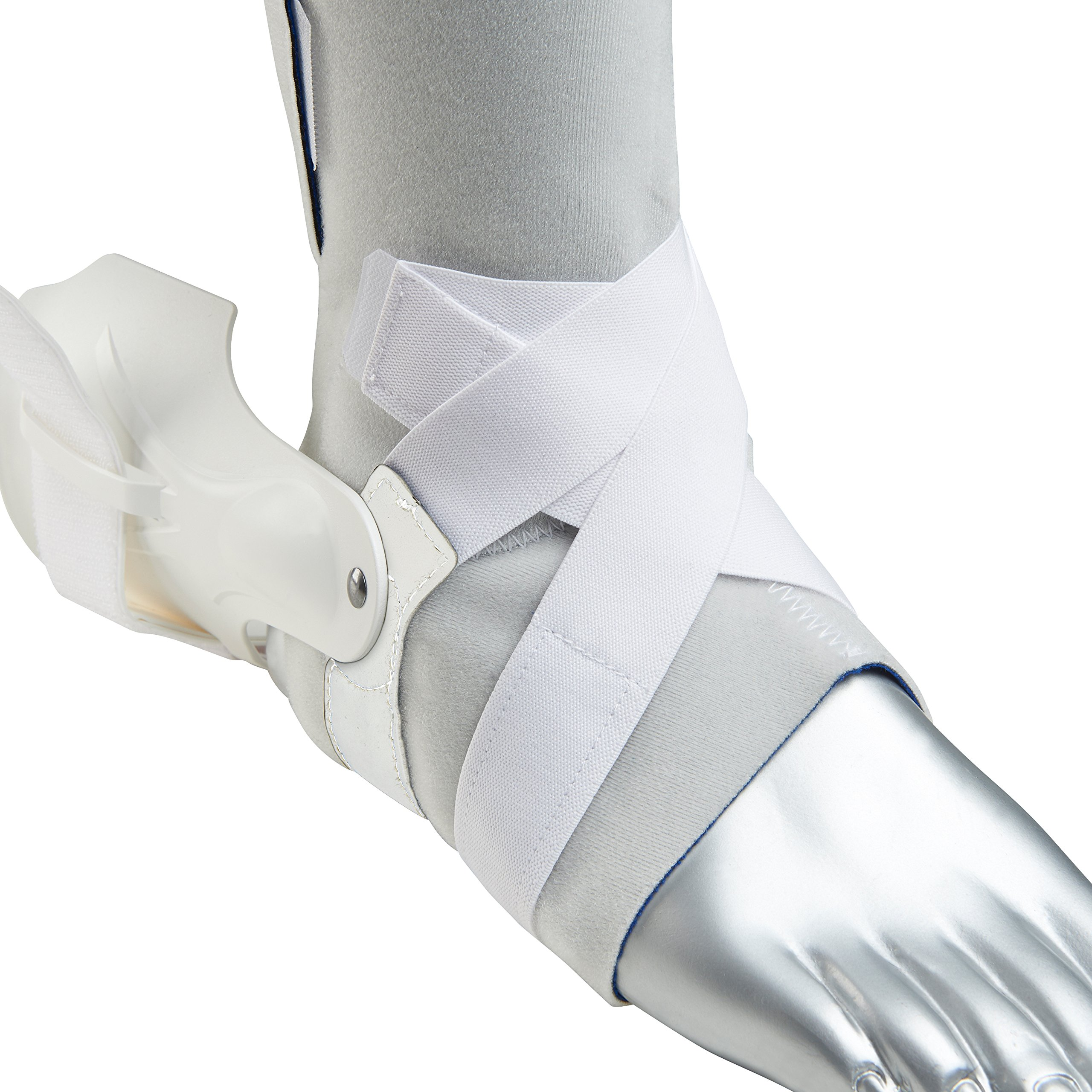 Zamst Ankle Brace Support Stabilizer: A2-DX Mens & Womens Sports Brace for Basketball, Soccer, Volleyball, Football & Baseball,White,Left,X-Large by Zamst (Image #3)