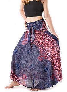 bcc97b70ee9 Lannaclothesdesign Women s Long Maxi Skirt Bohemian Gypsy Hippie ...