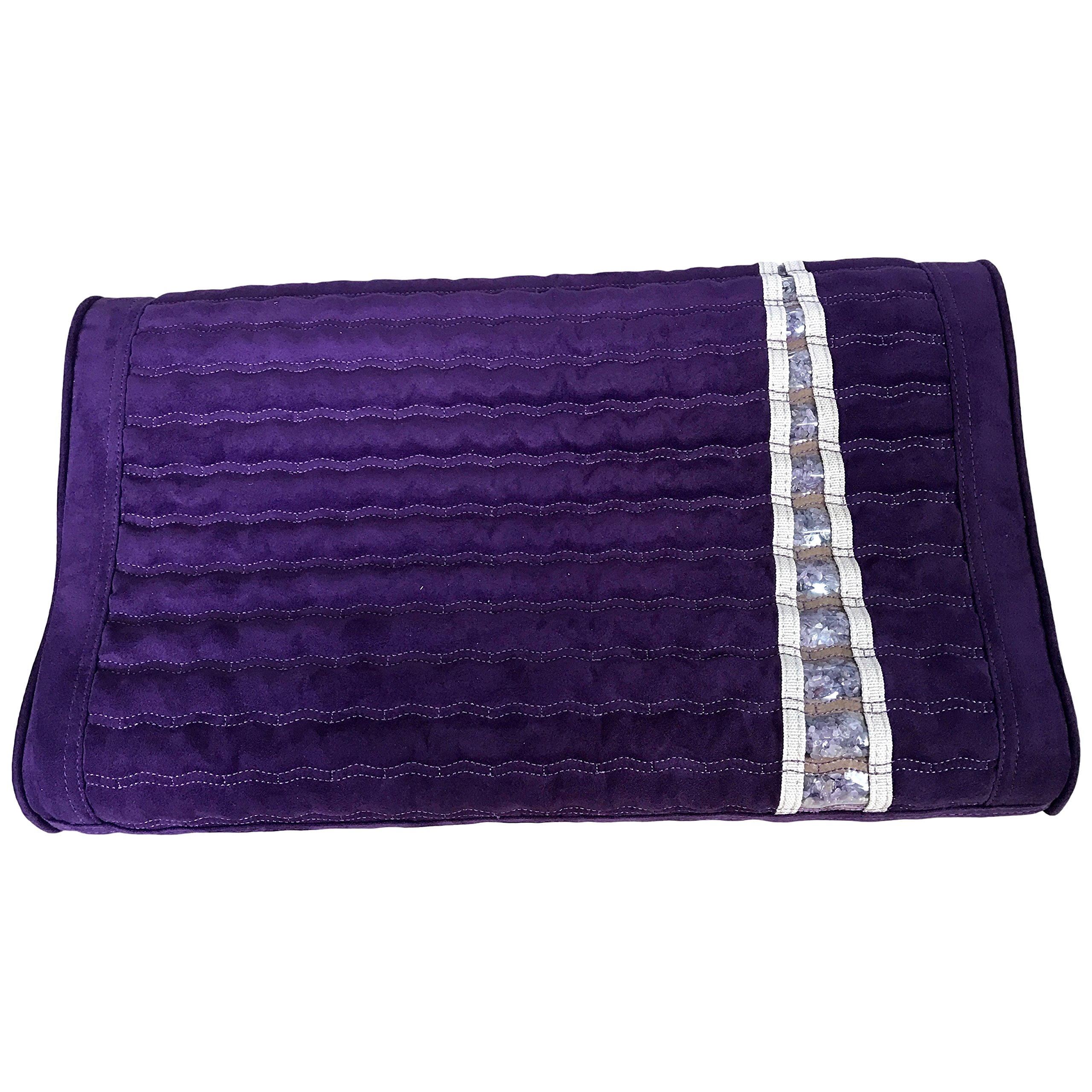 Far Infrared Amethyst Mat Pillow - Emits Negative Ions - Crystal FIR Rays - 100% Natural Amethyst Gemstones - Non Electric - For Headache and Stress Relief - To Sleep Better - GENTLE support - Purple by MediCrystal (Image #10)