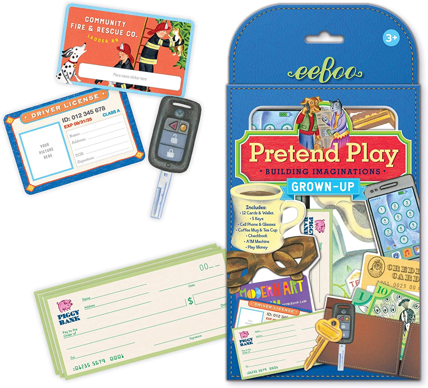 eeBoo Grown Up Pretend Play Set for Kids