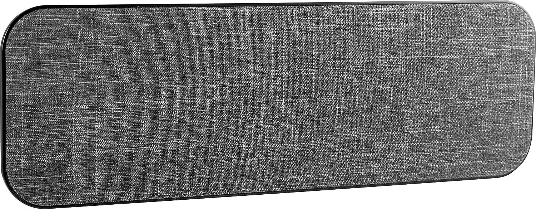 GE Pro Indoor TV Antenna, Fabric, Long Range Antenna, Home Decor, Digital, HDTV Antenna, Smart TV Compatible, 4K 1080P VHF UHF, Gray Fabric with Black Outline, 43452