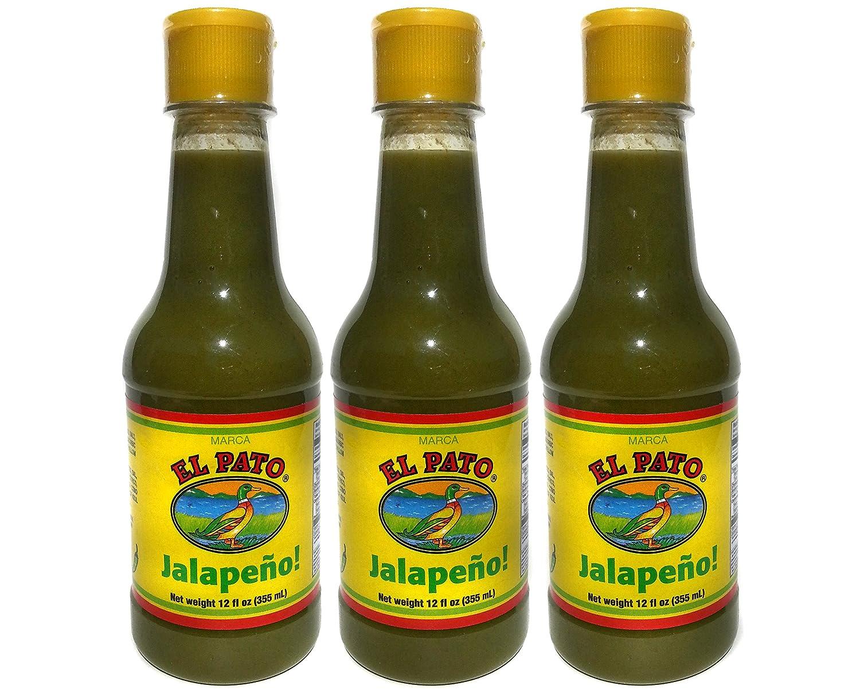 El Pato Green Jalapeno Hot Sauce Medium 12 fl oz (Pack of 3)